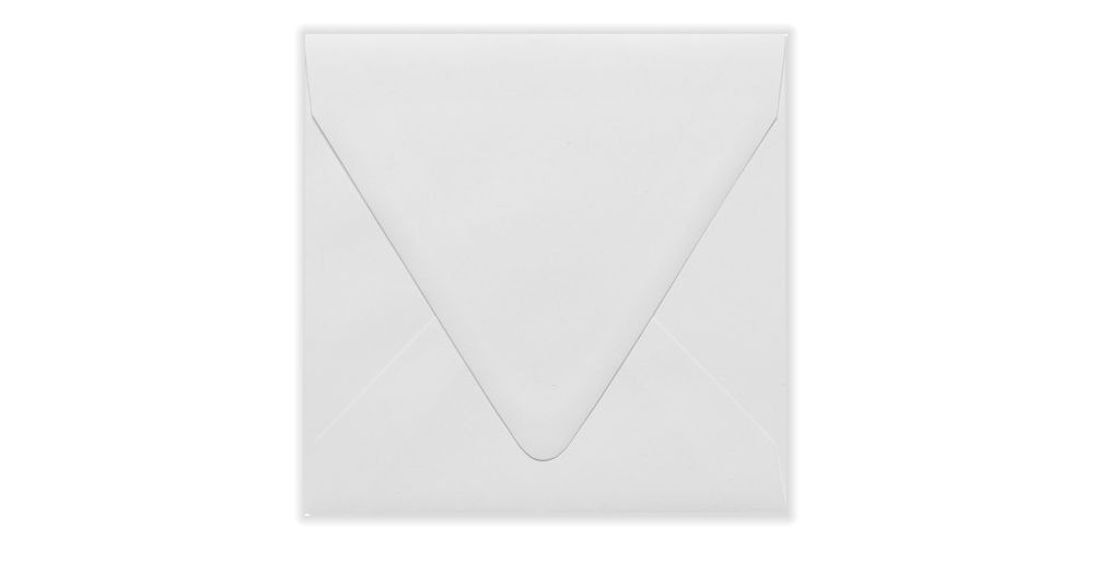 6 1/2 x 6 1/2 Square Contour Flap Envelopes White - 100% Recycled