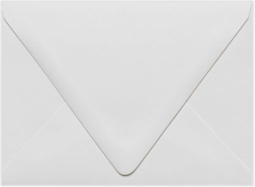 A6 Contour Flap Envelopes (4 3/4 x 6 1/2) White - 100% Recycled
