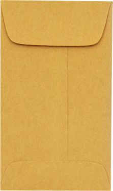#00 Coin Envelopes (1-11/16 x 2-3/4) 24lb. Brown Kraft