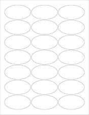 2.5 x 1.375 Oval Labels, 21 Per Sheet