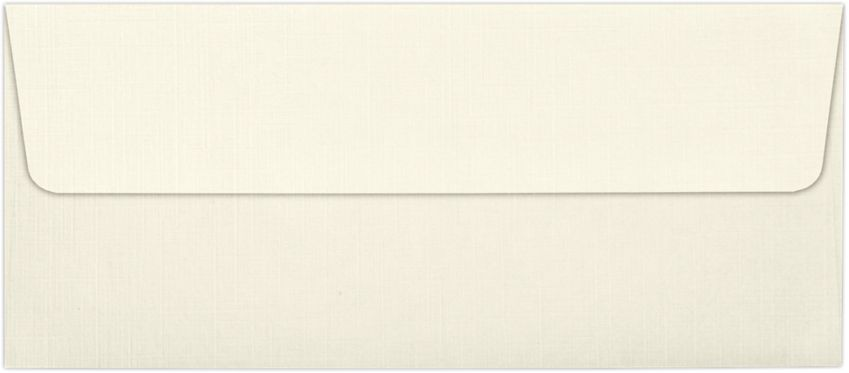 #10 Square Flap Envelopes (4 1/8 x 9 1/2) Natural Linen
