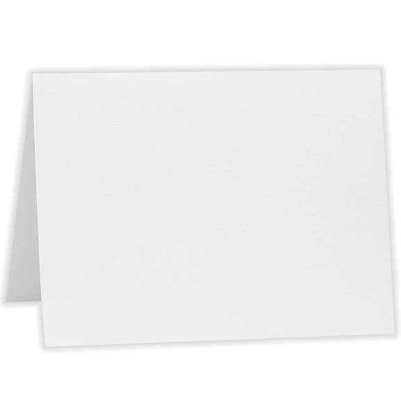 A6 Folded Card (4 5/8 x 6 1/4) Bright White - 100% Cotton
