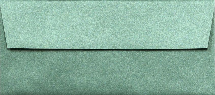 #10 Square Flap Envelopes (4 1/8 x 9 1/2) Emerald Metallic