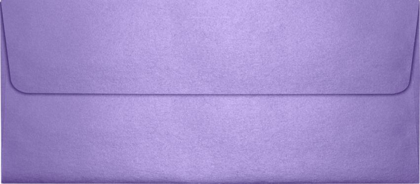 #10 Square Flap Envelopes (4 1/8 x 9 1/2) Amethyst Metallic