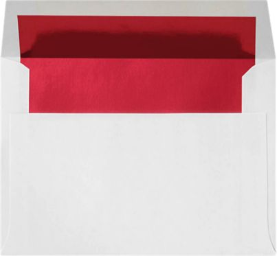 A2 Envelopes (4 3/8 x 5 3/4) Red Foil Lining