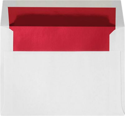 A7 Envelopes (5 1/4 x 7 1/4) Red Foil Lining