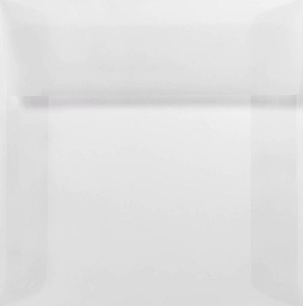 5 x 5 Square Envelopes Clear Translucent
