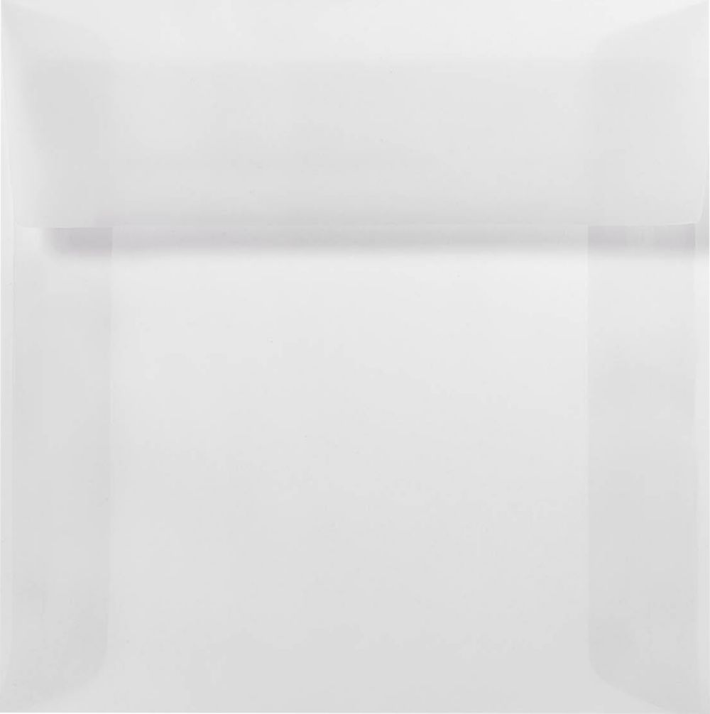 6 x 6 Square Envelopes Clear Translucent