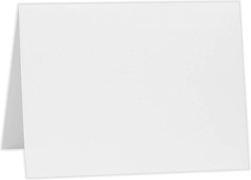 A7 Folded Card (5 1/8 x 7) 80lb. Bright White