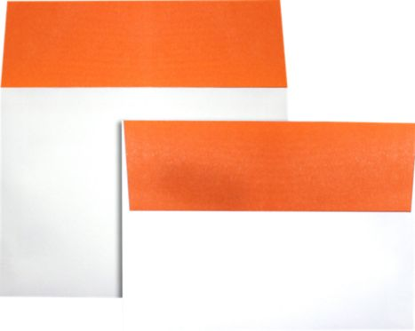 A7 Colorflaps Envelopes (5 1/4 x 7 1/4) Mandarin Flap