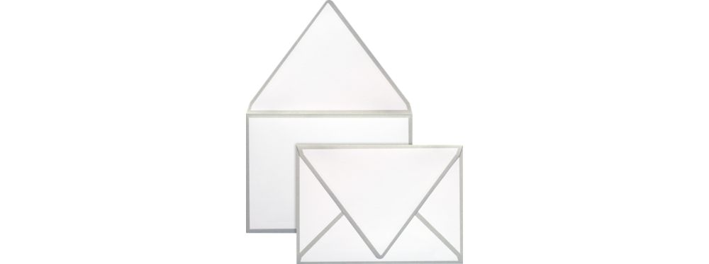 A7 Colorseams Envelopes (5 1/4 x 7 1/4) Silver Seam