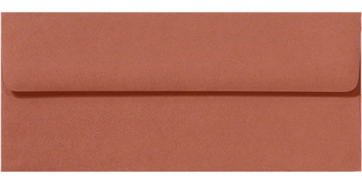 #10 Square Flap Envelopes (4 1/8 x 9 1/2) Terracotta