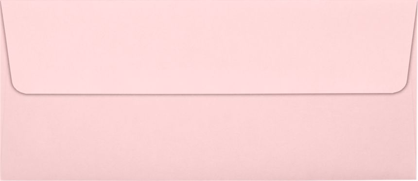 #10 Square Flap Envelopes (4 1/8 x 9 1/2) Candy Pink