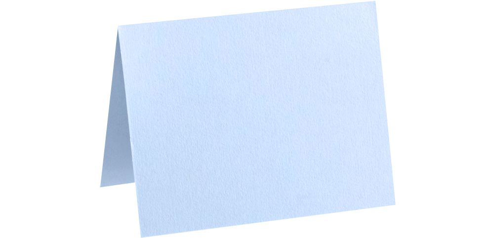 A6 Folded Card (4 5/8 x 6 1/4) Baby Blue