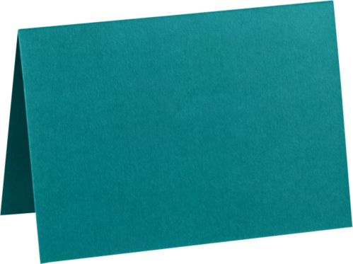 A7 Folded Card (5 1/8 x 7 ) Teal