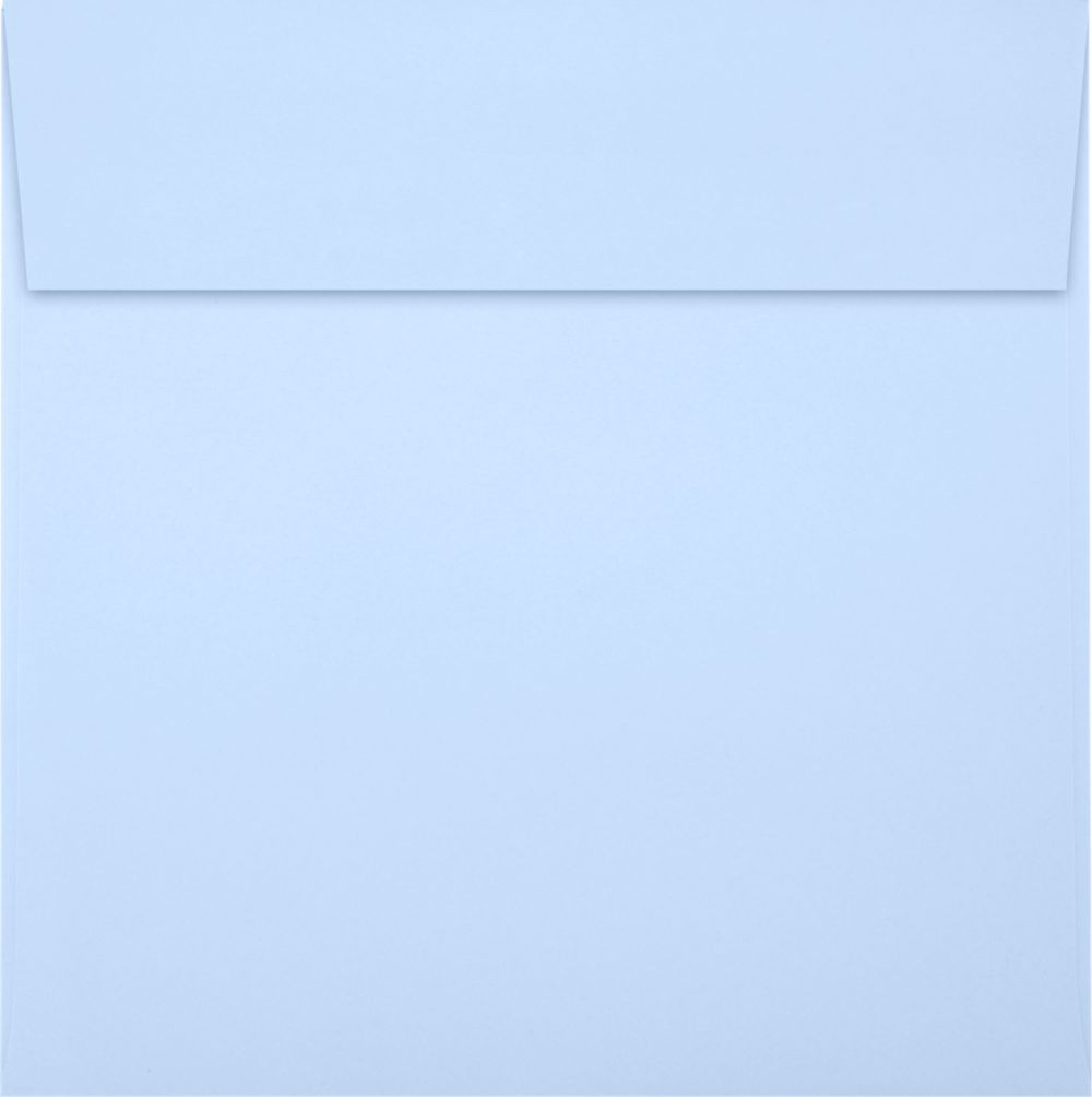 6 1/2 x 6 1/2 Square Envelopes Baby Blue