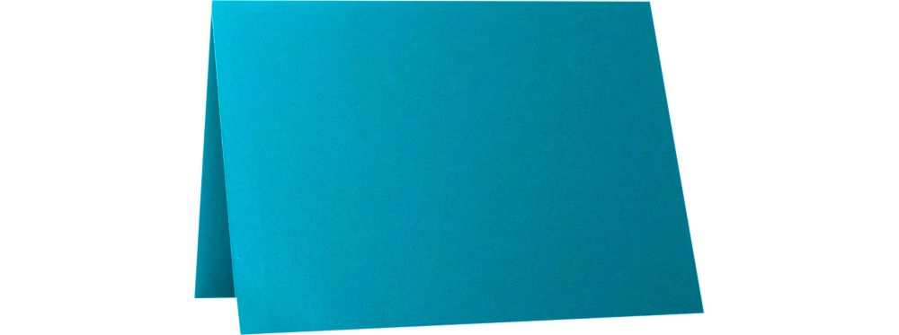 A6 Folded Card (4 5/8 x 6 1/4) Trendy Teal