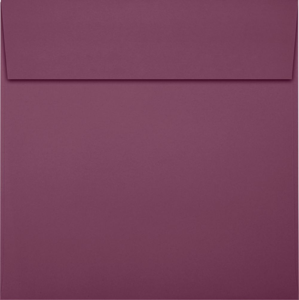 6 x 6 Square Envelopes Vintage Plum