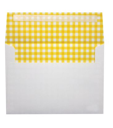 A7 Printeriors (5 1/4 x 7 1/4) Yellow Gingham