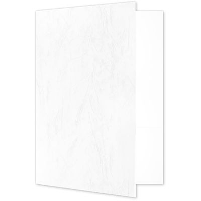 Quick Ship - 4Color Folders White Marble