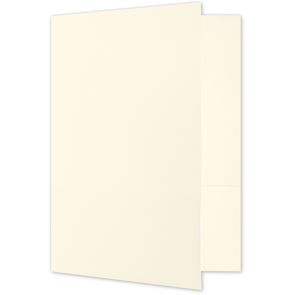 Quick Ship - 4Color Folders Alabaster Natural