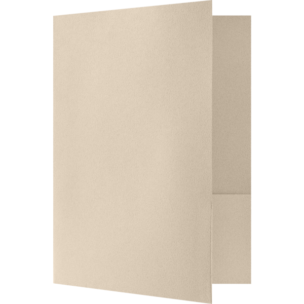 Quick Ship - 4Color Folders Sandcastle Natural