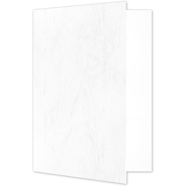 Quick Ship - Foil Stamped Folders White Marble Texture