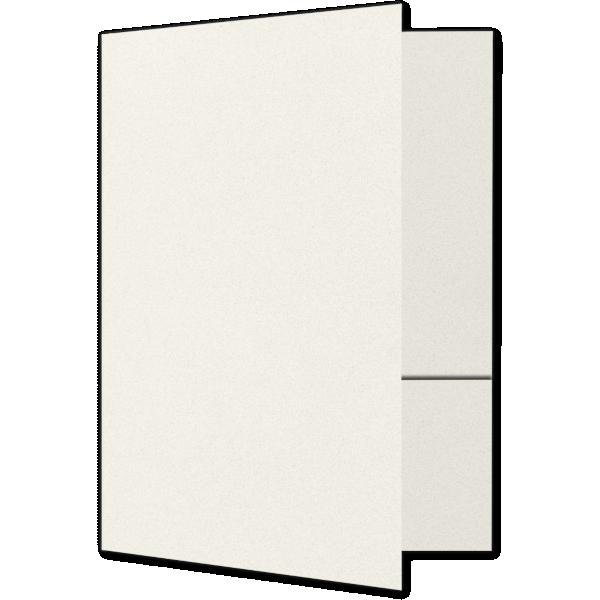 Quick Ship - Foil Stamped Folders Vanilla Bean White