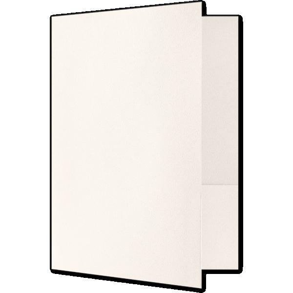 Quick Ship - Foil Stamped Folders Ecru Natural