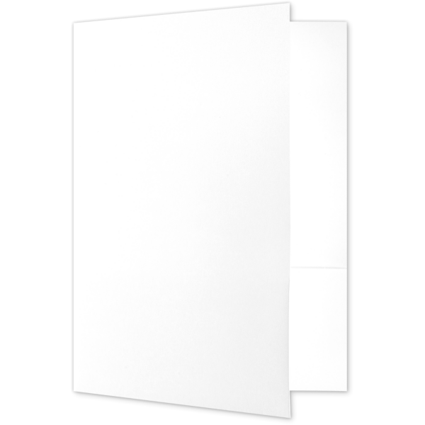 Quick Ship - Foil Stamped Folders Bright White - 100% Recycled