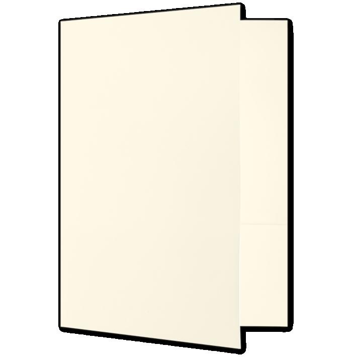 Quick Ship - Foil Stamped Folders Alabaster Natural