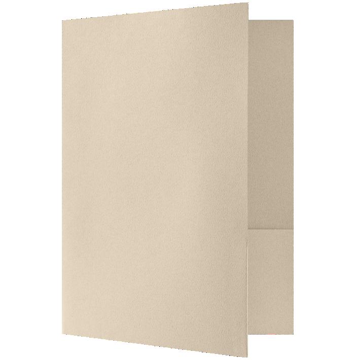 Quick Ship - Foil Stamped Folders Sandcastle Natural