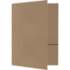 Quick Ship - Foil Stamped Folders Grocery Bag Brown