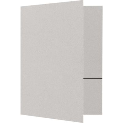 Quick Ship - Foil Stamped Folders Gray Mist