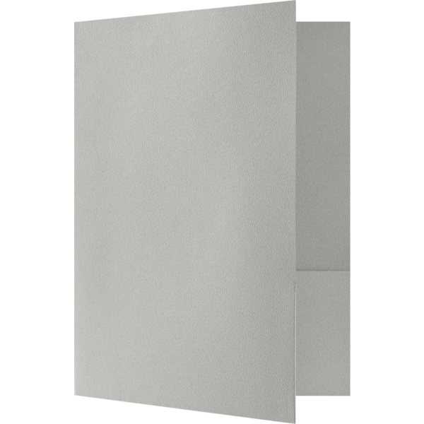 Quick Ship - Foil Stamped Folders Graystone
