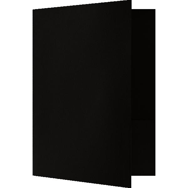 Quick Ship - Foil Stamped Folders Midnight Black