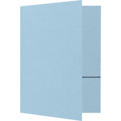 Quick Ship - Foil Stamped Folders Artic Blue