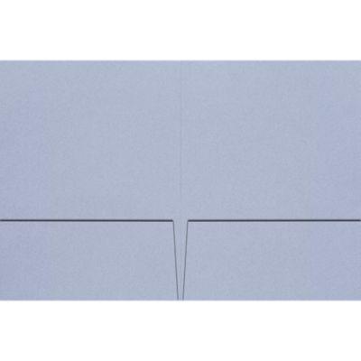 Quick Ship - Foil Stamped Folders Cornflower Blue