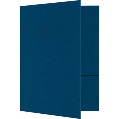 Quick Ship - Foil Stamped Folders Cobalt Blue