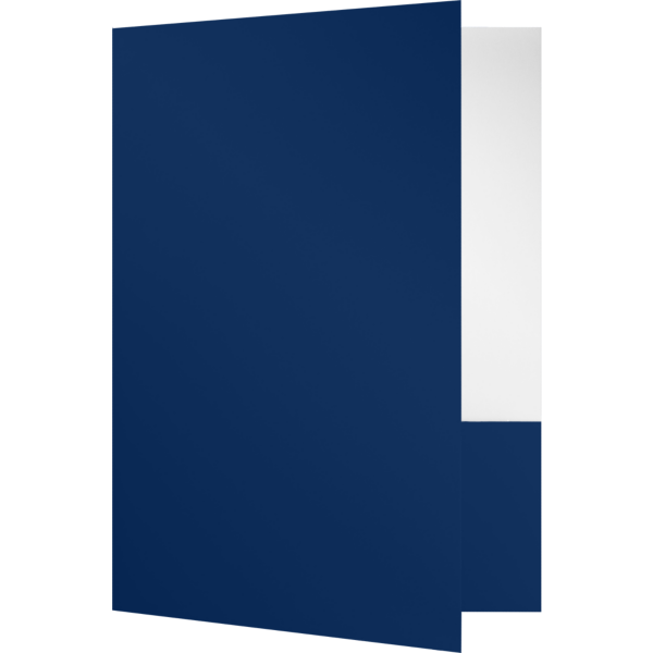 Quick Ship - Foil Stamped Folders Dark Navy Blue