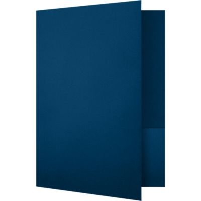 Quick Ship - Foil Stamped Folders Oxford Blue