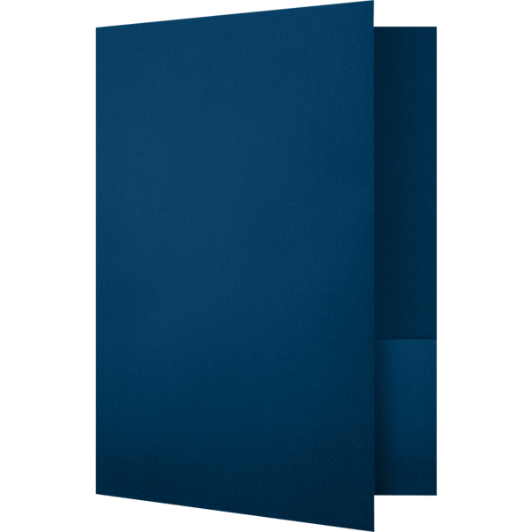 Quick Ship - Foil Stamped Folders Oxford Blue