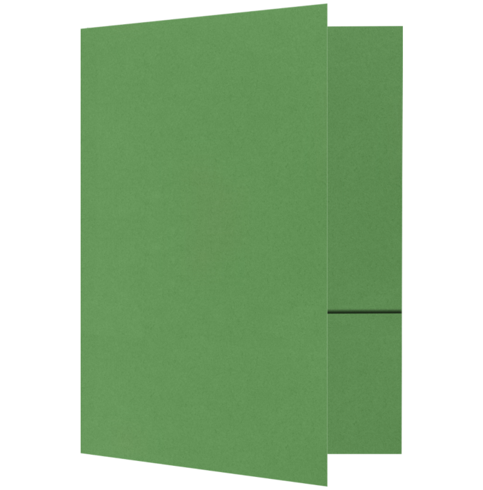 Quick Ship - Foil Stamped Folders Grasshopper Green