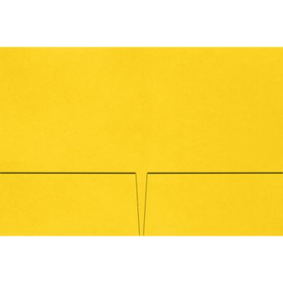 Quick Ship - Foil Stamped Folders Sunshine Yellow