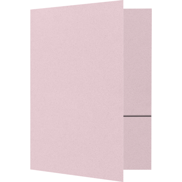 Quick Ship - Foil Stamped Folders Ballet Pink