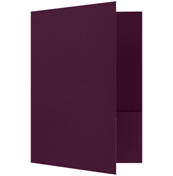Quick Ship - Foil Stamped Folders Deep Maroon