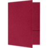 Quick Ship - Foil Stamped Folders Chili Red