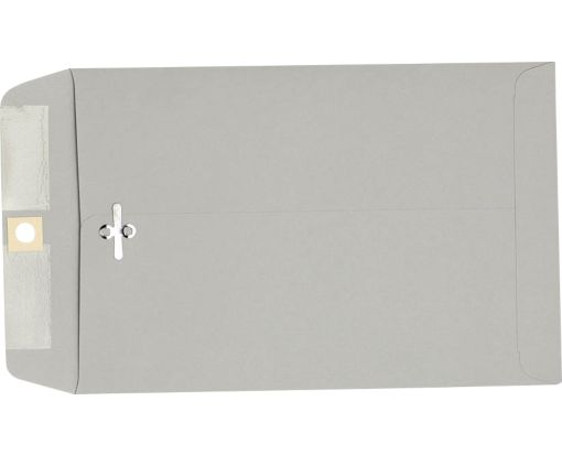 9 x 12 Clasp Envelopes Gray Kraft
