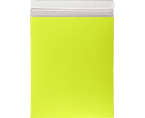 11 x 13 1/2 Colored Paperboard Mailers Electric Green