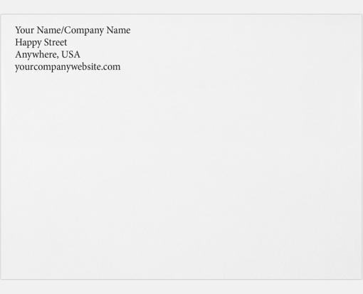Printed A7 Envelopes - Custom w/ Return Address - Custom printed A7 ...